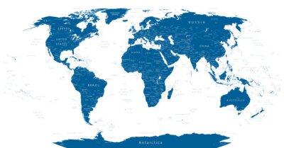 Fototapete Hoch detaillierte Weltkarte