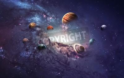 Fototapete Hochauflösende Bilder präsentieren die Erschaffung von Planeten des Sonnensystems.