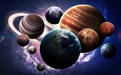 Fototapete Hochauflösende Bilder präsentieren Planeten des Sonnensystems. Diese Bildelemente von der NASA