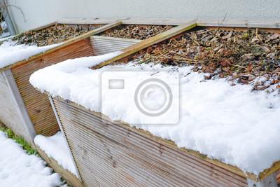 Hochbeet Im Winter Fototapete Fototapeten Gemuseanbau Close Up