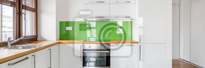 Hochglanz, weiße küche fototapete • fototapeten Arbeitsplatte ...