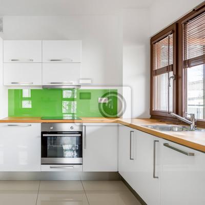 Hochglanz, weiße küche fototapete • fototapeten | myloview.de