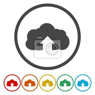 Hochladen von cloud-symbol. upload-schaltfläche. ladesymbol ...