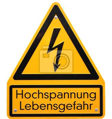 Hochspannung - Lebensgefahr-Zeichen in Deutschland