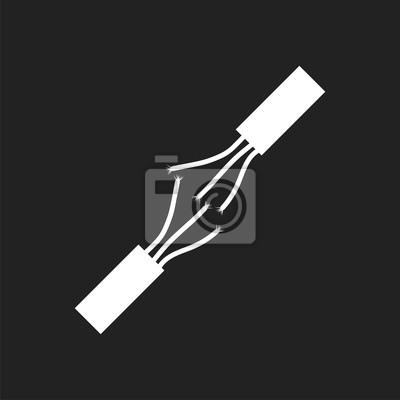 Hochspannungs-stromkabel. elektrische kabel vektor-symbol auf ...