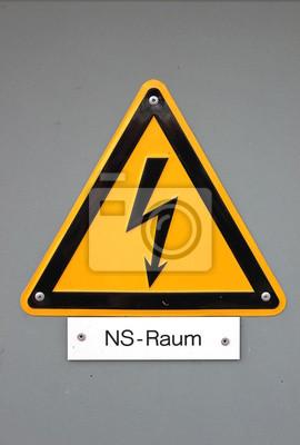 Hochspannungs-Zeichen in Deutschland (Niederspannungsbereich)