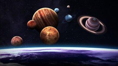 Fototapete Hochwertige isolierte Sonnensystem Planeten. Elemente dieses Bildes von der NASA eingerichtet