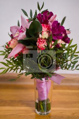 Hochzeit Blumen Hochzeit Bouquet Von Roten Und Rosa Pfirsich