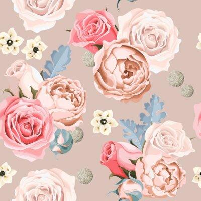 Fototapete Hochzeit Blumen nahtlos