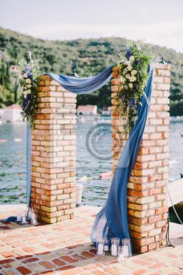 Hochzeit Bogen Dekoration Mit Blick Aufs Meer Fototapete