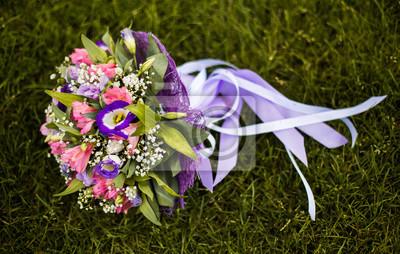 Hochzeit Bouquet Hochzeit Blumen Bouquet Von Blau Rosa Und