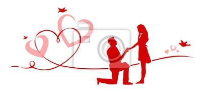 Hochzeit herzen paar fototapete • fototapeten kardialen, 14. Februar ...
