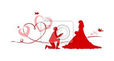 Hochzeit Herzen Paar Fototapete Fototapeten Kardialen 14 Februar