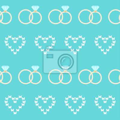 Hochzeit Nahtlose Romantischen Dekorativen Muster Hintergrund