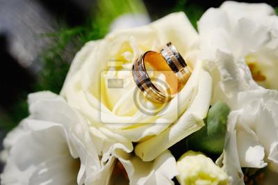 Hochzeit Ringe Auf Einer Hochzeit Bouquet Fototapete Fototapeten