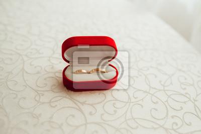 Hochzeit Ringe In Der Roten Box Fototapete Fototapeten Schone Wed