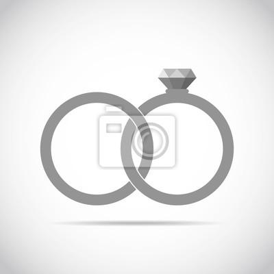Hochzeit Ringe Symbol Abbildung Fototapete Fototapeten Wertvolle