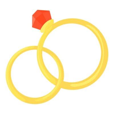 Hochzeit Ringe Symbol Cartoon Illustration Der Eheringe Vektor