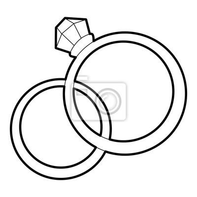 Symbol ehering Verlobungsring