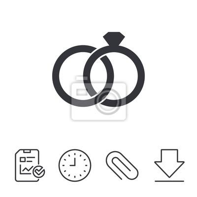 Hochzeit Ringe Zeichen Symbol Verlobungssymbol Fototapete