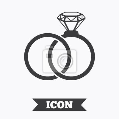 Hochzeit Ringe Zeichen Symbol Verlobungszeichen Fototapete