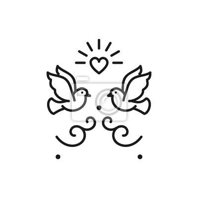 Hochzeit Tauben Vogel Symbole Hochzeit Paar Zeichen Valentinstag