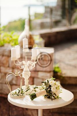Hochzeit Tisch Blume Dekoration Hintergrund Fototapete