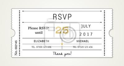 Hochzeits-einladung pt.2 schablone - rsvp, wartekarte (mit ...