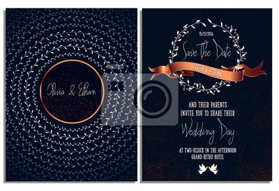 Hochzeits-einladungs-karten-schablone. druck fertig. sichern ...
