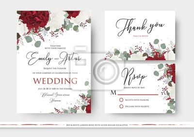 Hochzeitsblumen Einladen Sparen Das Datum Danke Uawg