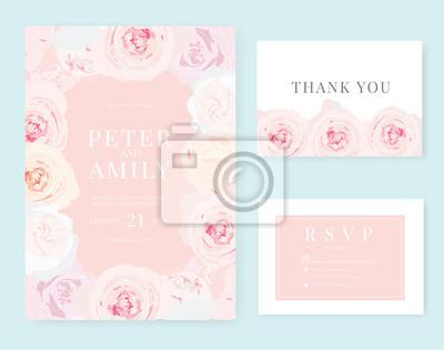 Hochzeitseinladungskarte Fototapete Fototapeten Myloview De