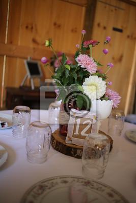Hochzeitsfotografie Rosa Weiss Und Grun Hochzeit Blumenarrangement