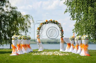 Hochzeitszeremonie Fototapete Fototapeten Greengrass Trauung