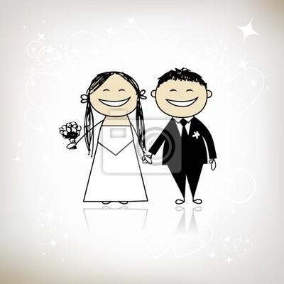 Hochzeitszeremonie - Braut und Bräutigam gemeinsam für Ihr design