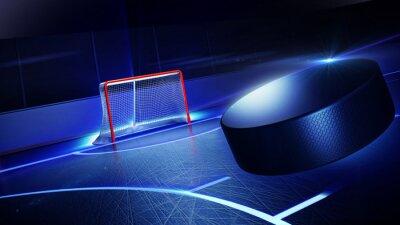 Fototapete Hockey Eisbahn und Ziel