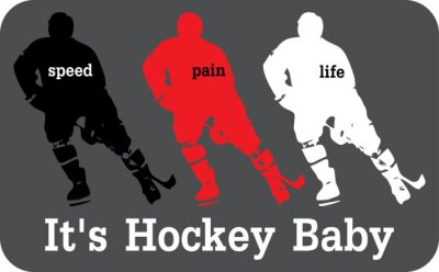 Fototapete Hockey-Label