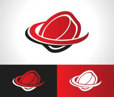 Fototapete Hockey Puck Logo Icon