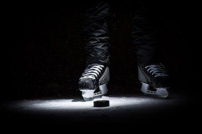 Fototapete Hockey Spieler. Beine nur Ansicht