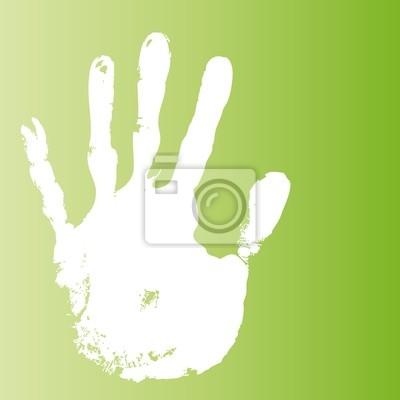 Hohe Auflösung Menschen Grünen Handabdruck Fototapete Fototapeten