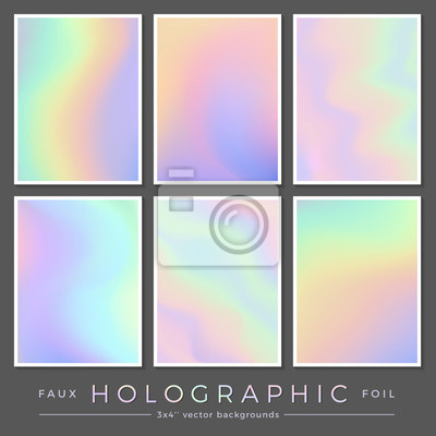 Fototapete Hologramm Hintergründe Set Von 6 3x4 Realistischen Kreativen