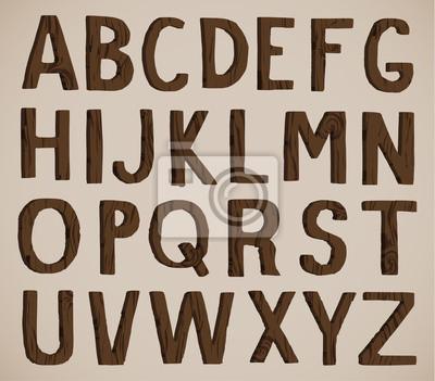 Holz Alphabet