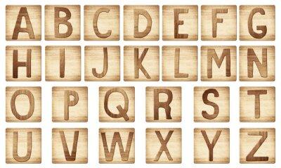 Holz-Alphabet Buchstaben Blöcke