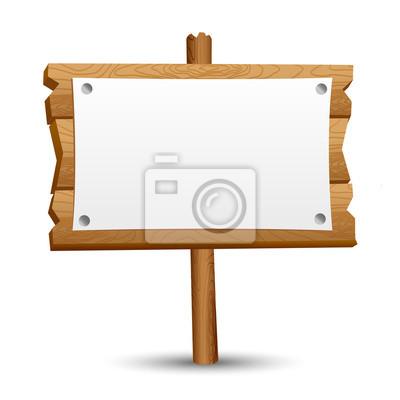 Fototapete Holz leere Zeichen