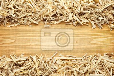 Holz Sägemehl und Späne Hintergrund mit Platz für Text