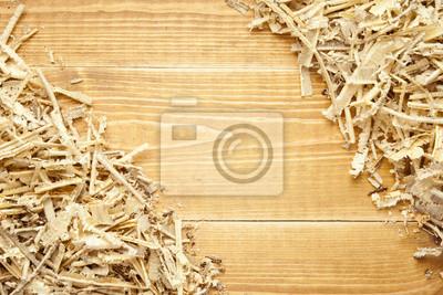 Holz-Sägemehl und Späne Hintergrund mit Platz für Text