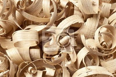 Holz Späne in der Werkstatt auf Brettern