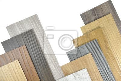 Fantastisch Fototapete Holz Textur Boden Proben Von Laminat Und Vinyl Bodenfliesen Auf  Holz Hintergrund Für Neubau Oder