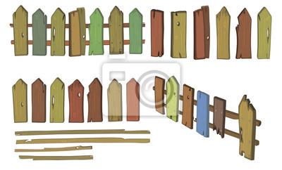 Holzerner Zaun Cartoon Fototapete Fototapeten Ummauerten