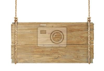 Fototapete Holzschild