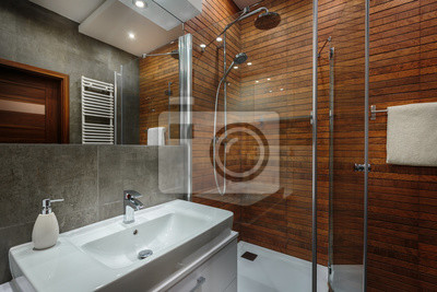 Fototapete Holzwand Im Badezimmer